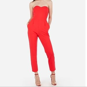 Strapless Sweetheart Neck Jumpsuit